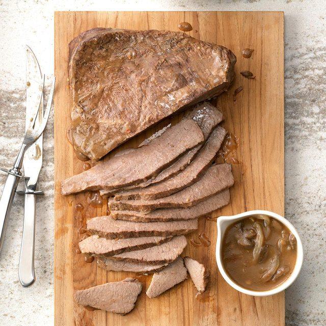 Slow-cooked beef brisket