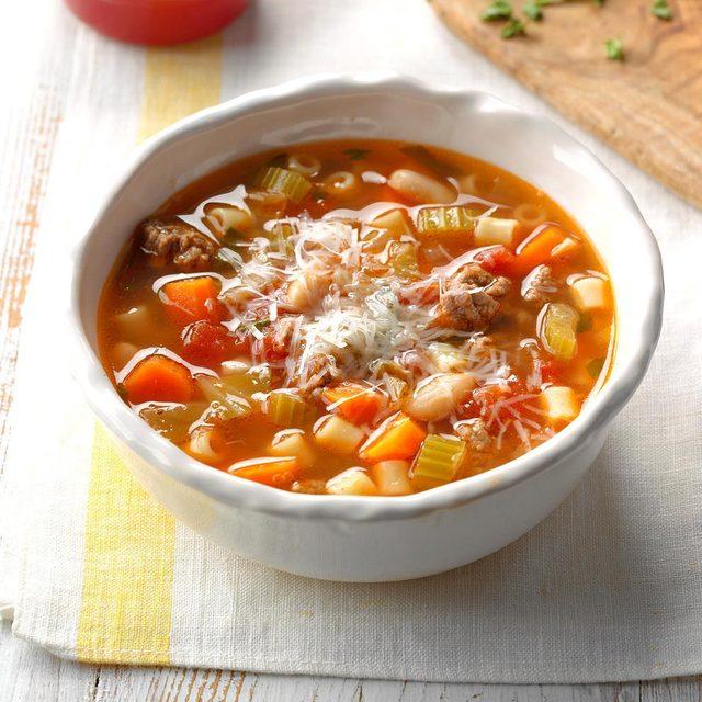 Slow cooker pasta e fagioli recipe