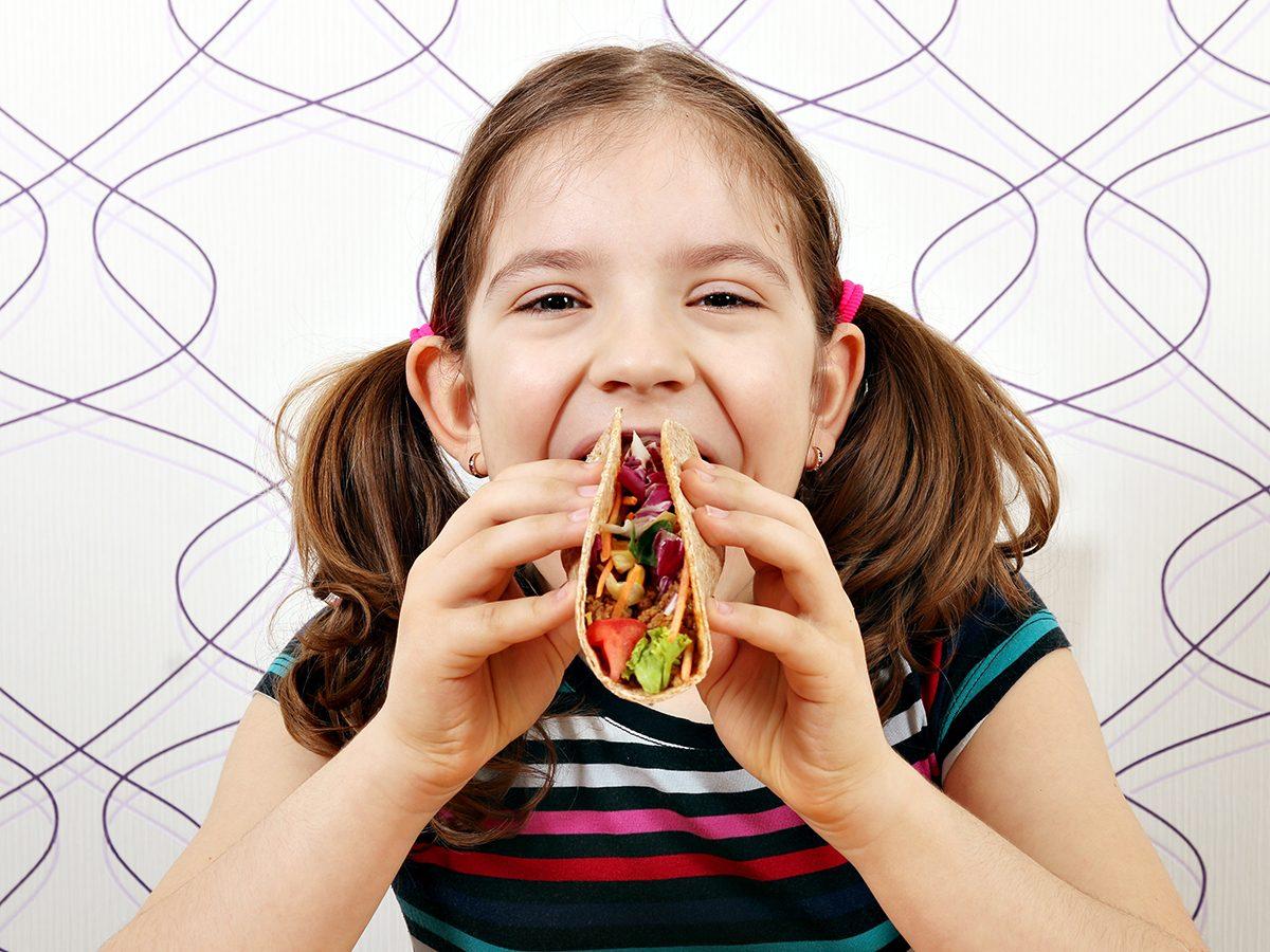 Funny Parenting Tweets - Kid Eating Tacos