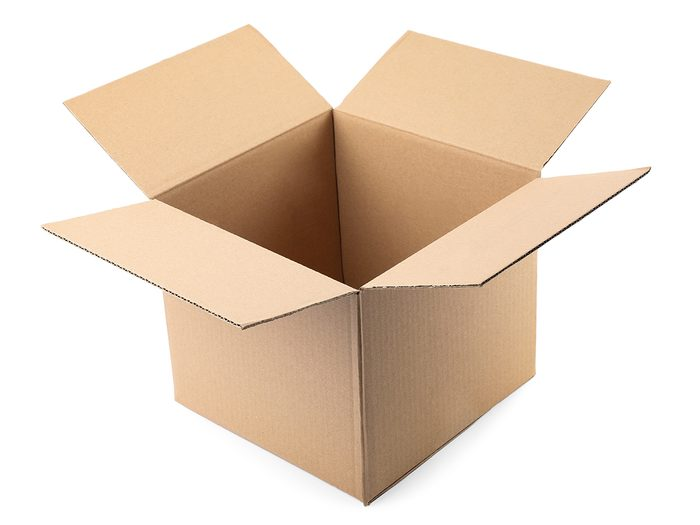 Hilarious tweets - Cardboard box isolated
