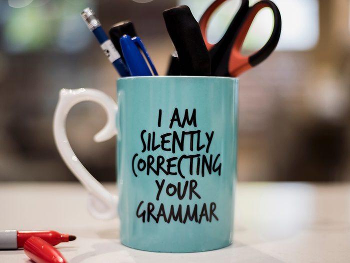 Hilarious tweets - Silently correcting your grammar mug