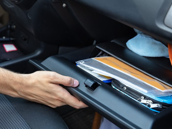 Never keep these things in your glove compartment - Driver Hand Opening Glovebox Compartment Inside Car