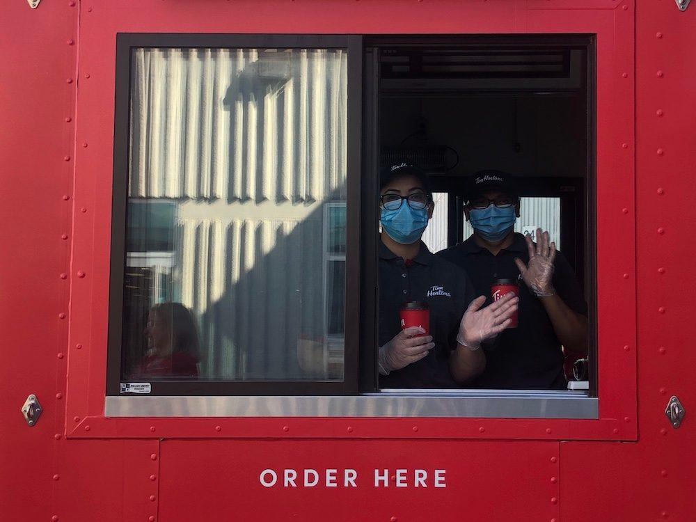Tim Hortons food cart - pandemic changes