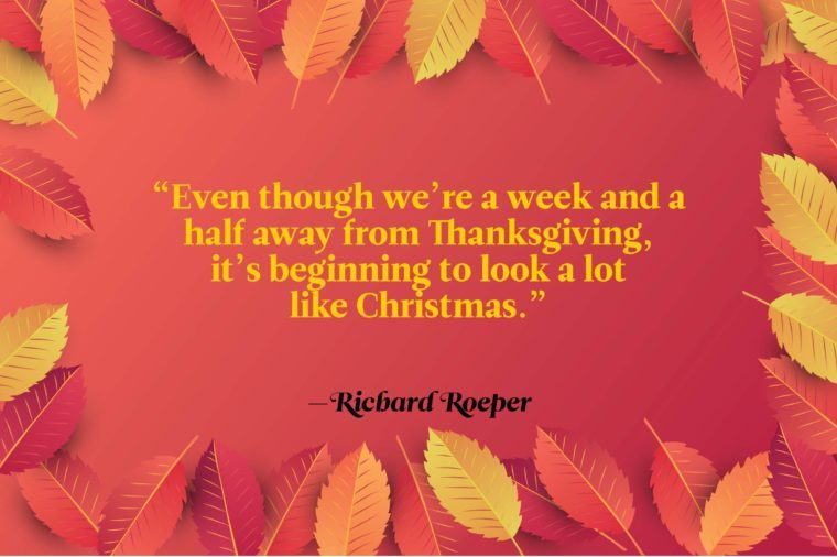 Funny Thanksgiving Quotes - Richard Roeper