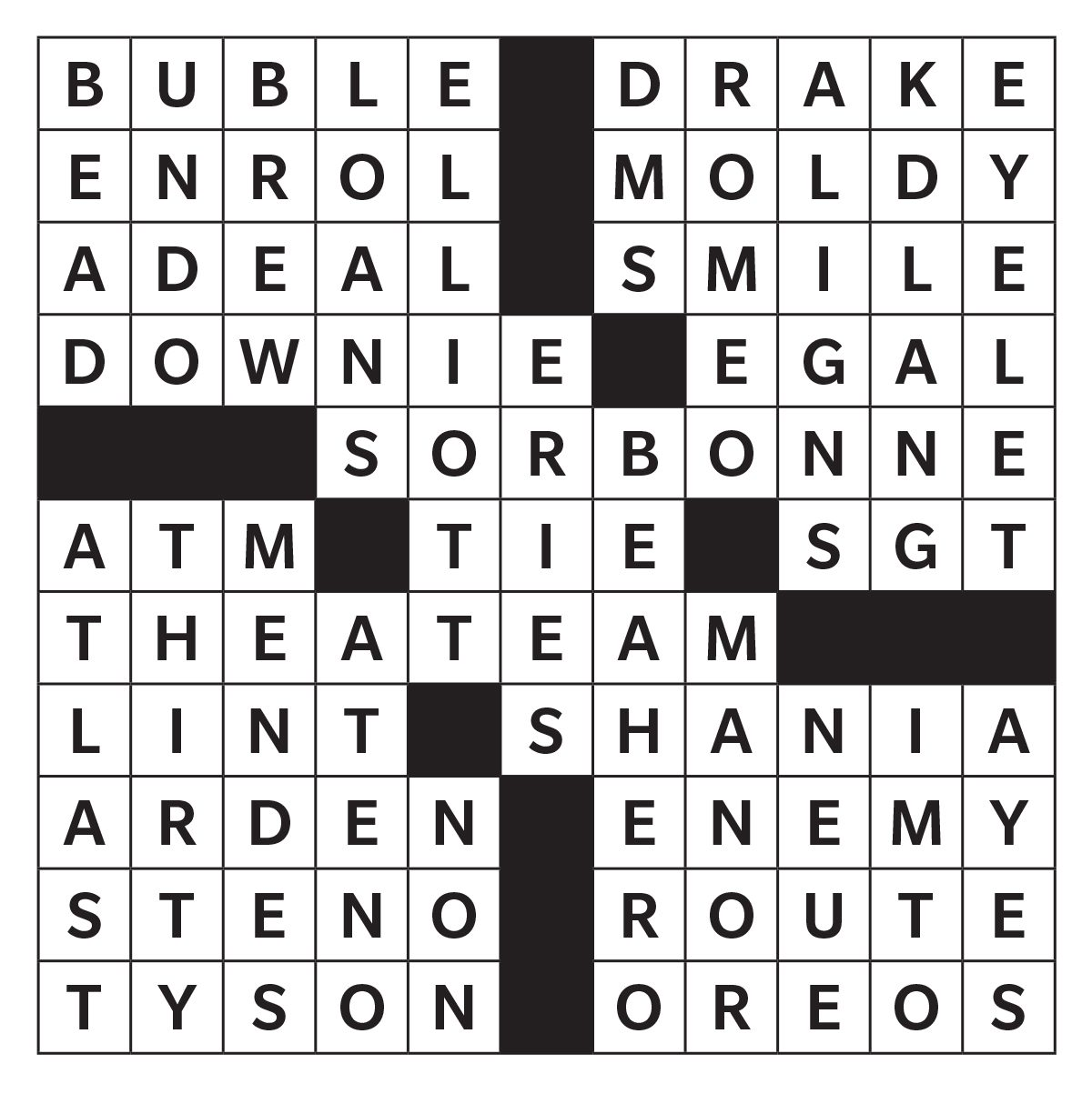 Printable crossword puzzle - May 2019
