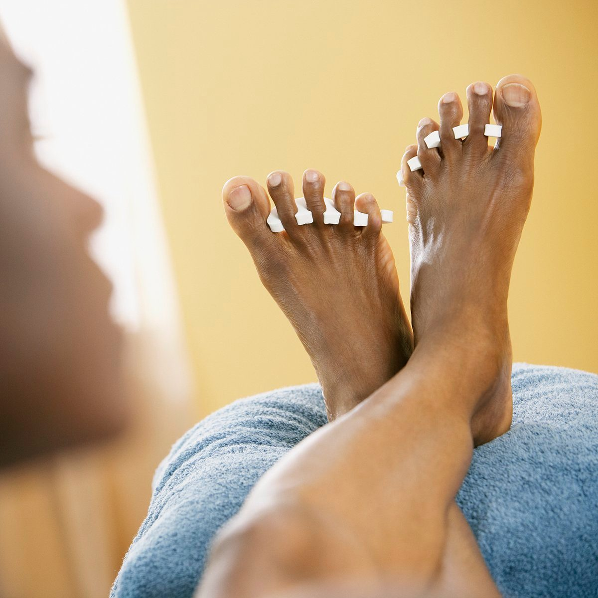 African man getting pedicure