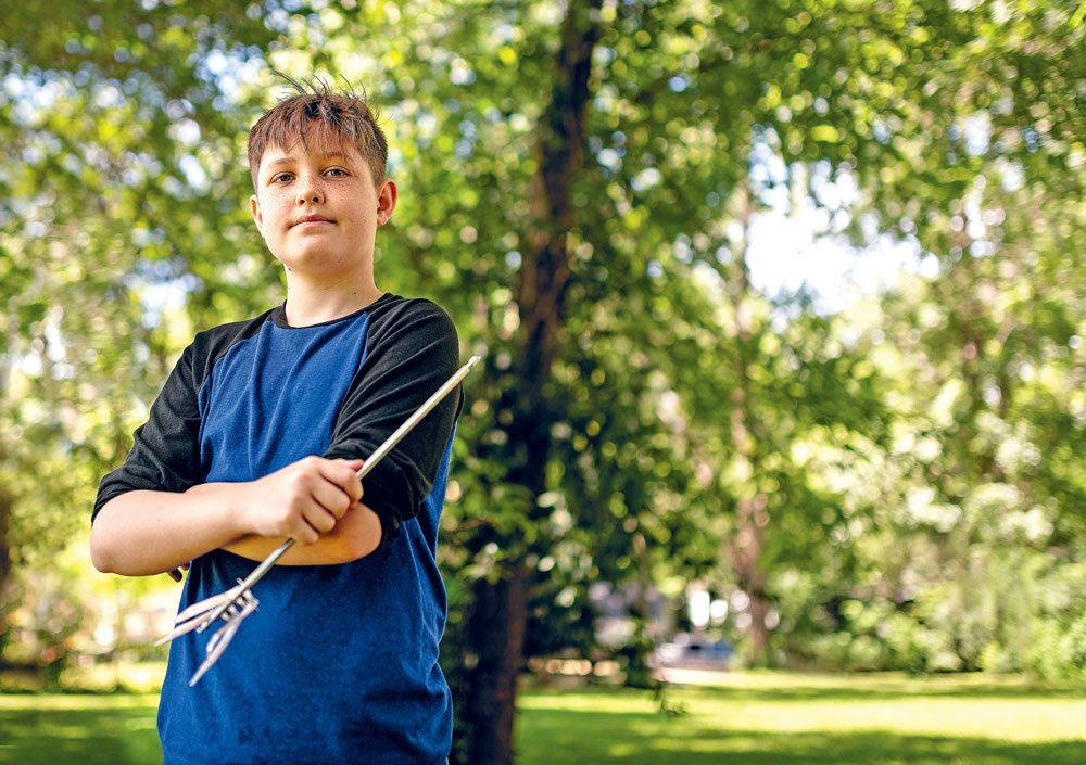 Medical mystery - boy survive skewer in head