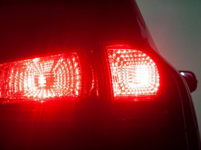 Brake lights - what it's like when brakes lock