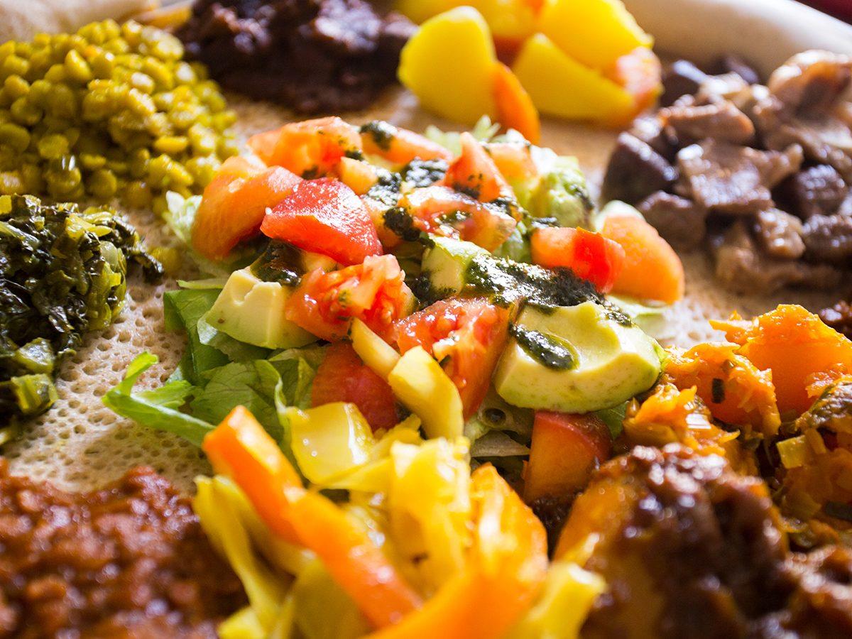Ethiopian cuisine - injera