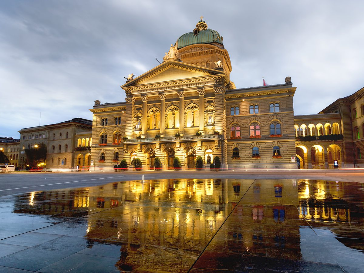 Good news - Swiss parliament buildings