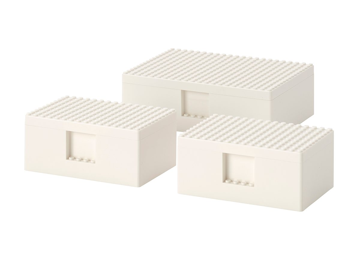 IKEA LEGO Bygglek boxes with lids, set of three, $16, IKEA Canada