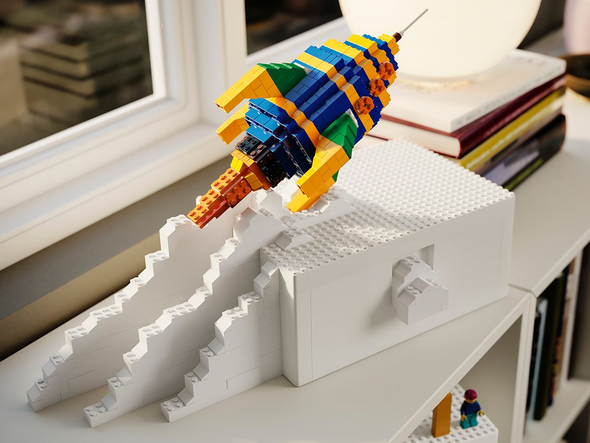 IKEA LEGO Bygglek collection rocket ship construction