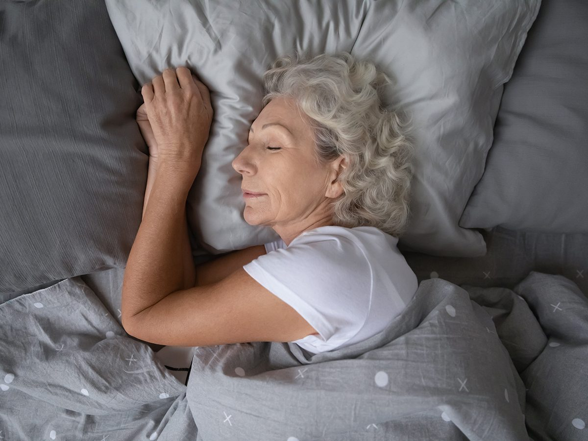 Morning brain exercises - woman sleeping in bed