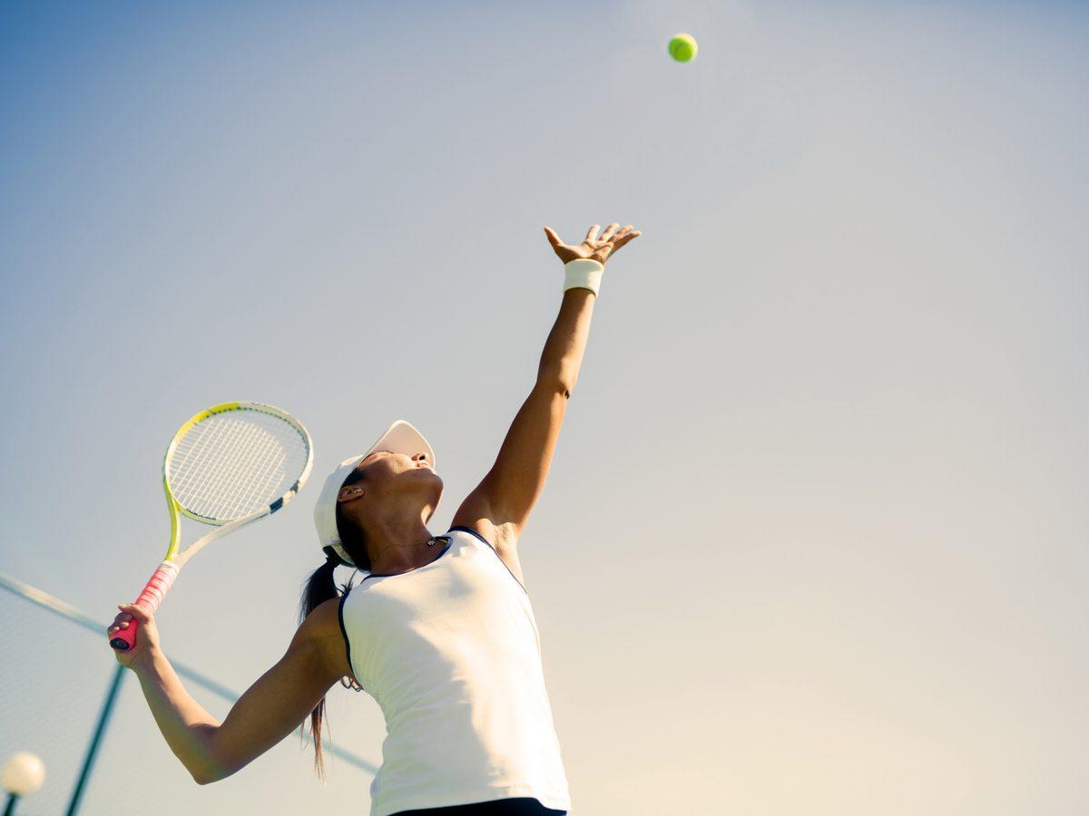 Printable crossword puzzle - woman tennis serve