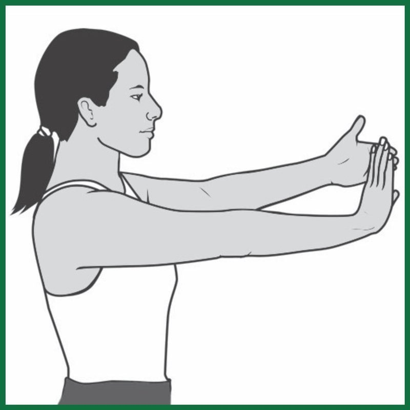 wrist extension flex exercise for carpal tunnel syndrome