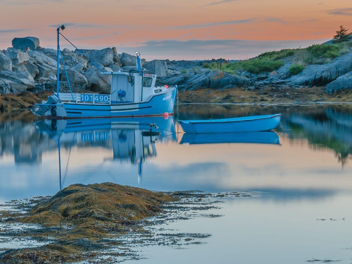 Best boat photography across Canada - boat in Blue Rocks, Nova Scotia