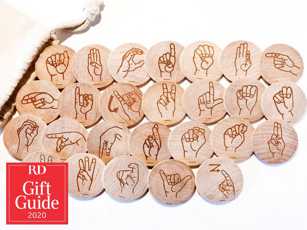 Canadian gifts - holiday gift guide - Etsy Tree Top Toys American Sign Language flash card discs