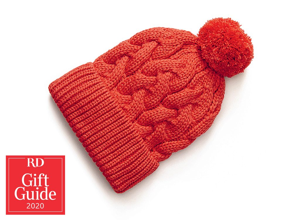 Canadian gifts - holiday gift guide - Chapters Indigo recycled plastic bottles toque