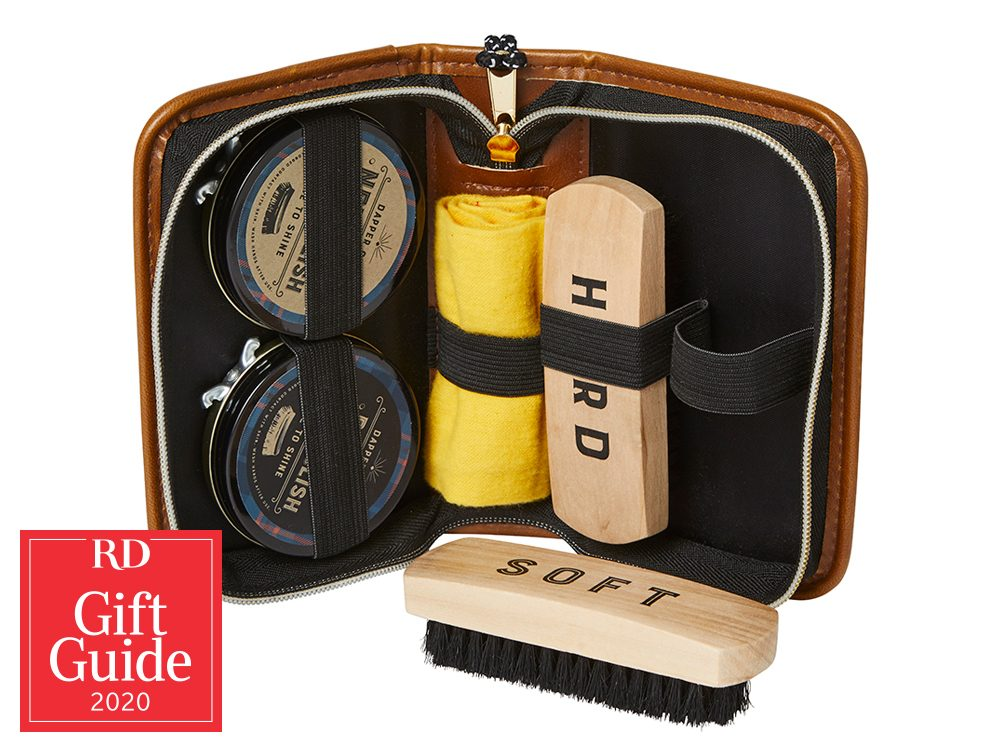 Canadian gifts - holiday gift guide - Marshall's shoe shine kit