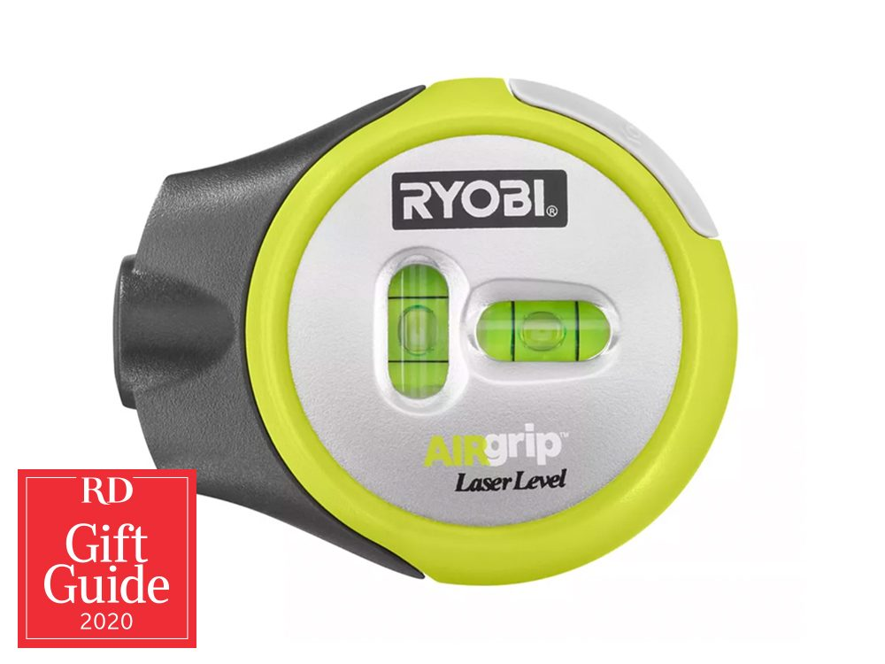 Canadian gifts - holiday gift guide - Ryobi laser level, The Home Depot