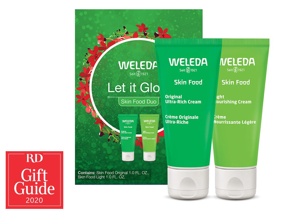 Canadian gifts - holiday gift guide - Weleda Let It Glow Skin Food duo