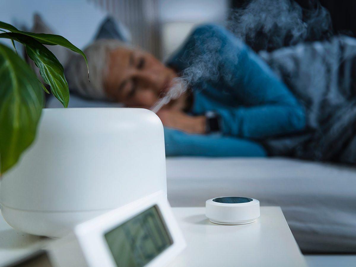 Most likely winter shortages due to COVID-19 - woman sleeping with humidifier on