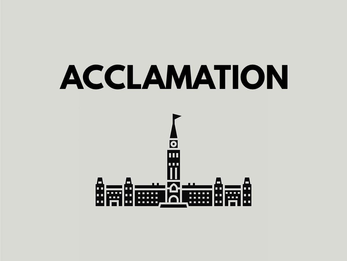 Election terms: Acclamation