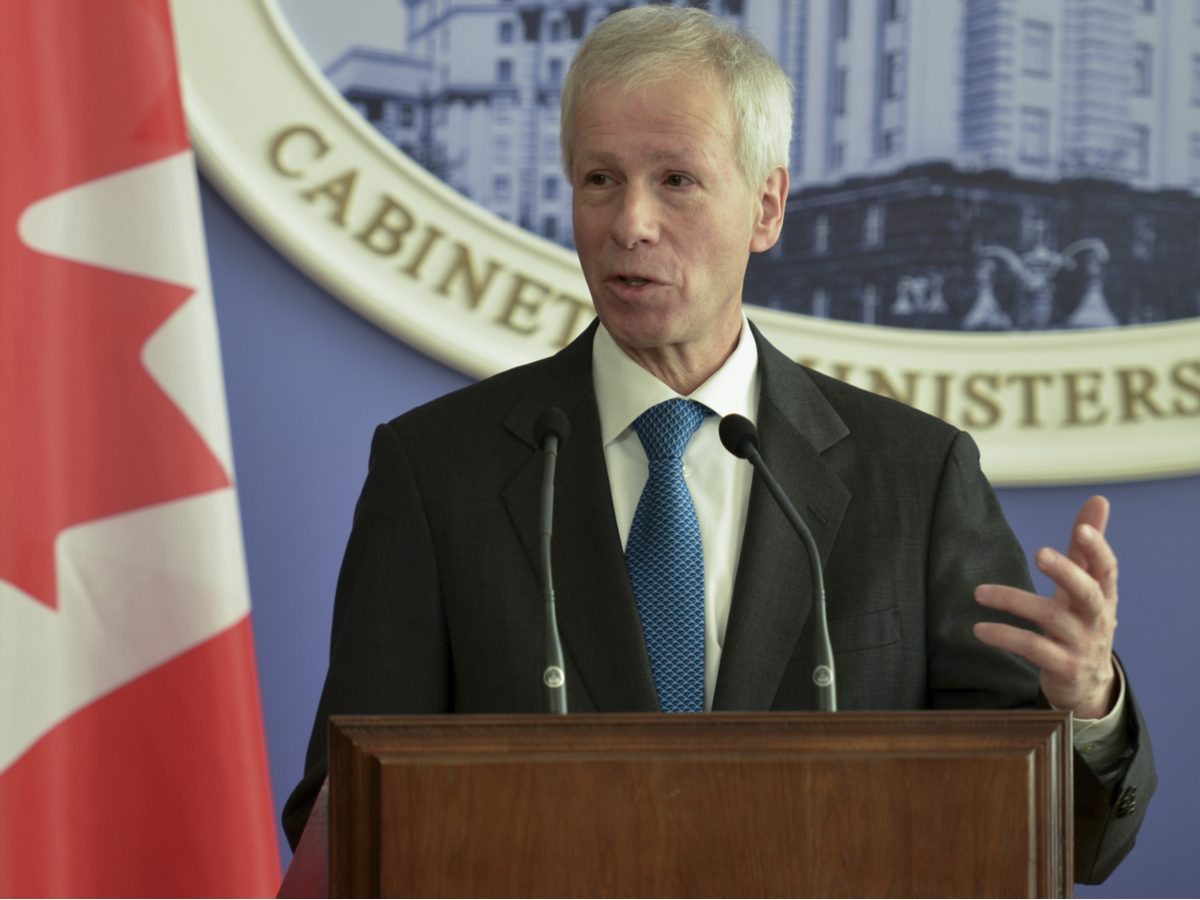 Stephane Dion delivering a speech