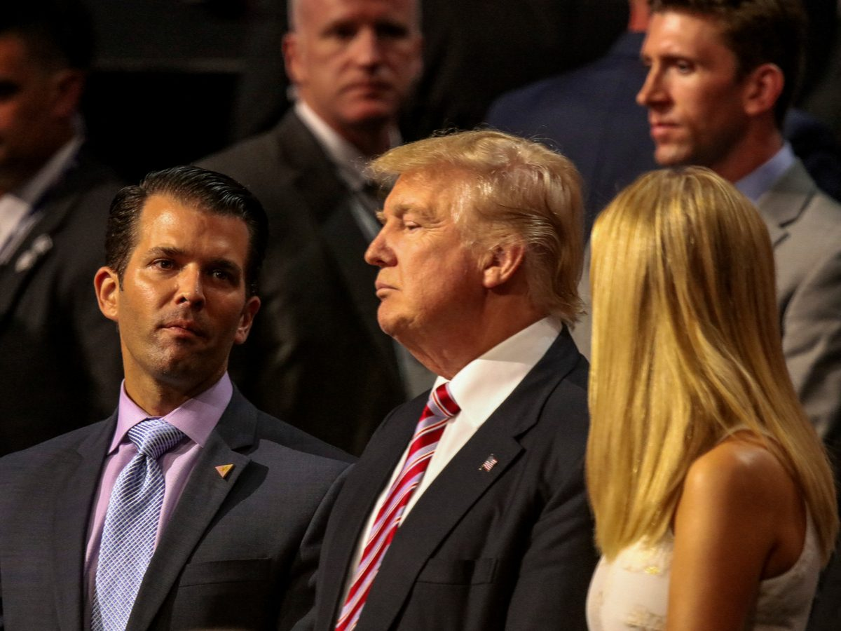 Donald Trump Jr., Donald Trump and Ivanka Trump