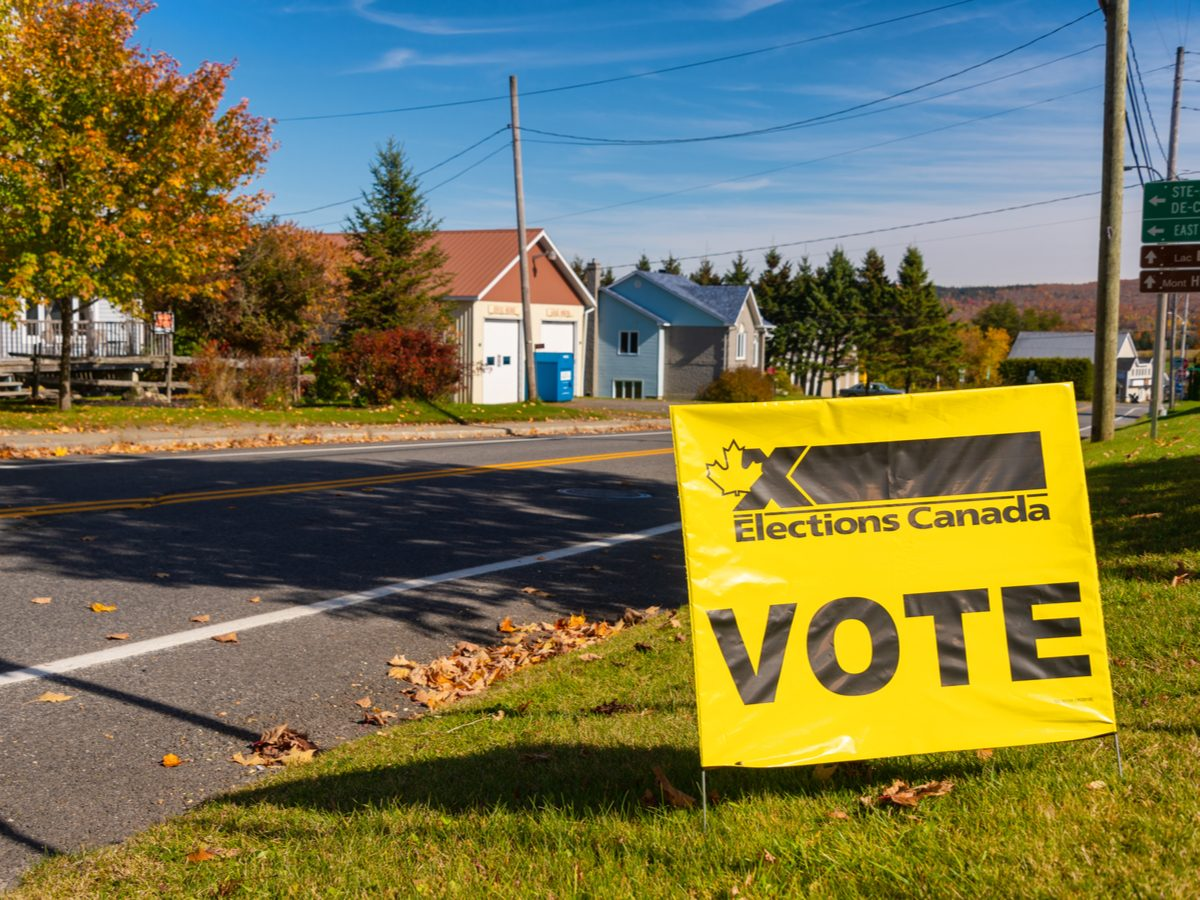 Vote sign in Canada