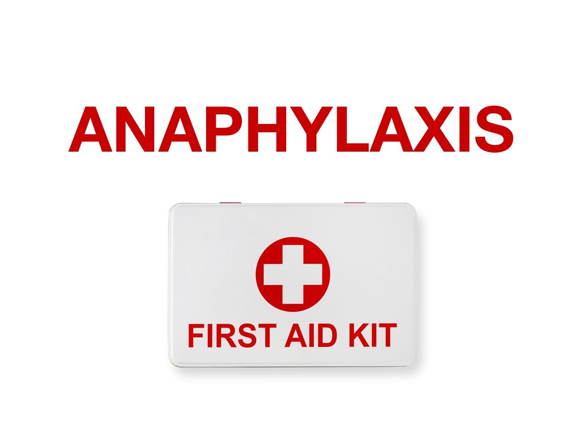 First aid terms - Anaphylaxis
