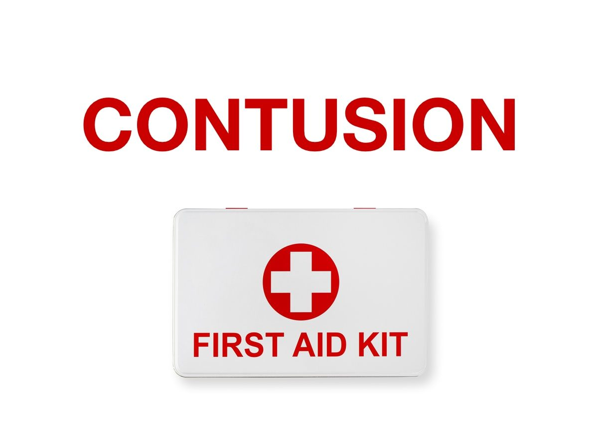 First aid terms - contusion