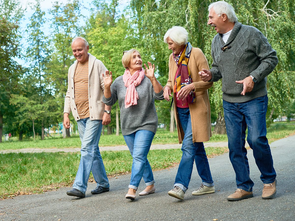 Health news - seniors walking