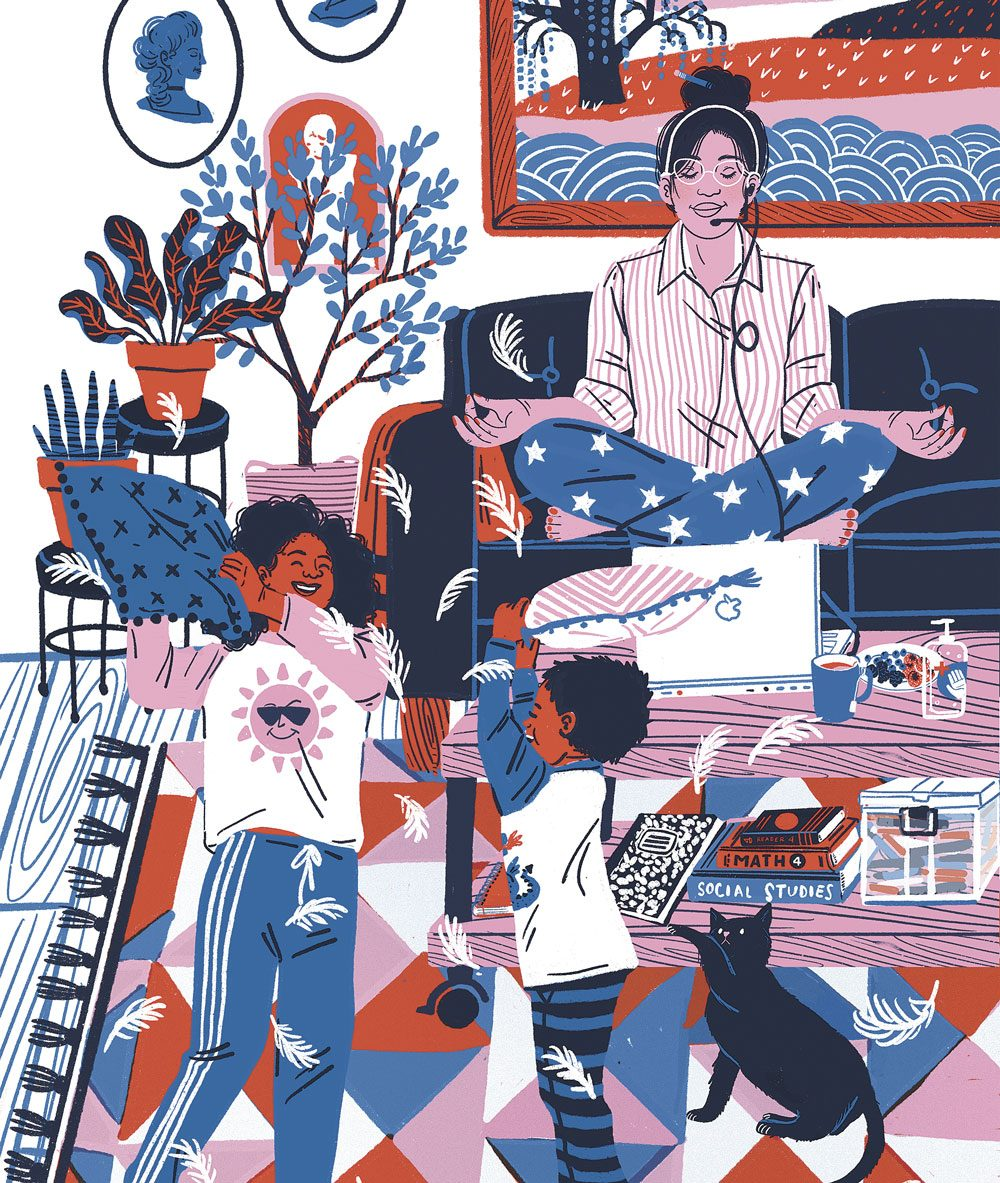 Self-care illustration