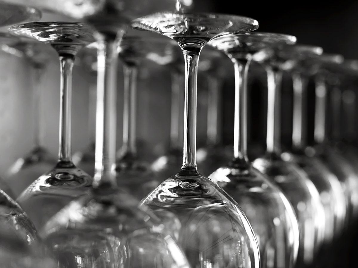 Magic Eraser uses - shine wine glasses