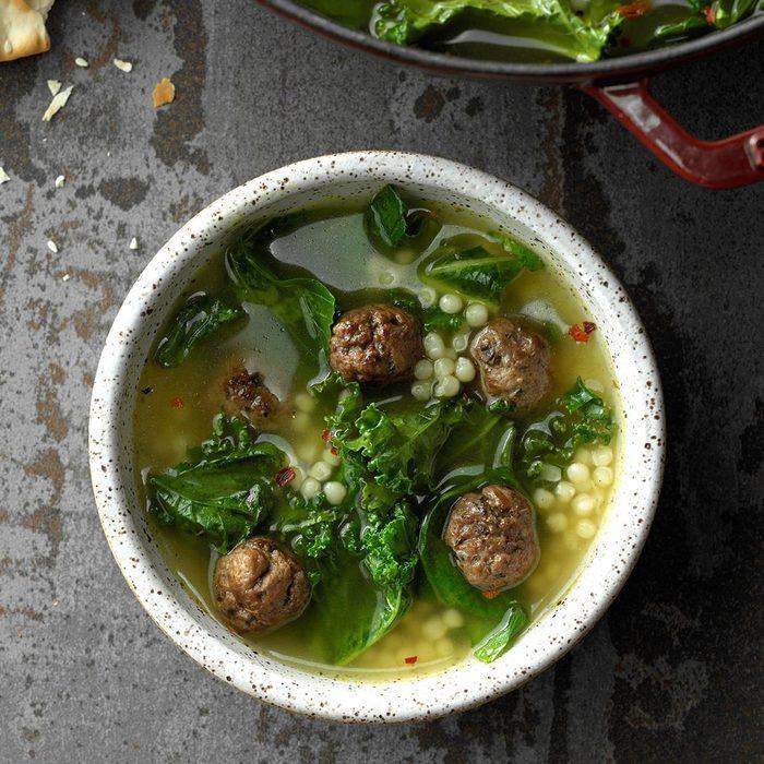 Couscous Meatball Soup