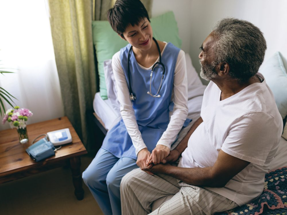 Heart to Home Meals - Doctor and patient