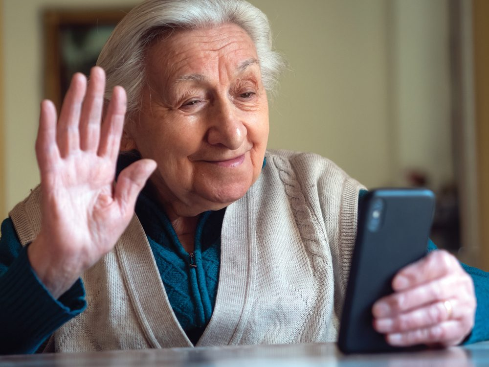 Ways to Make Life Better for Your Aging Parent - Senior on a video call