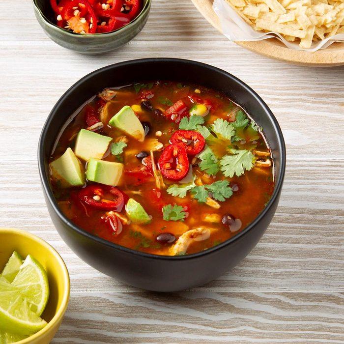 Pressure cooker chicken tortilla soup recipe