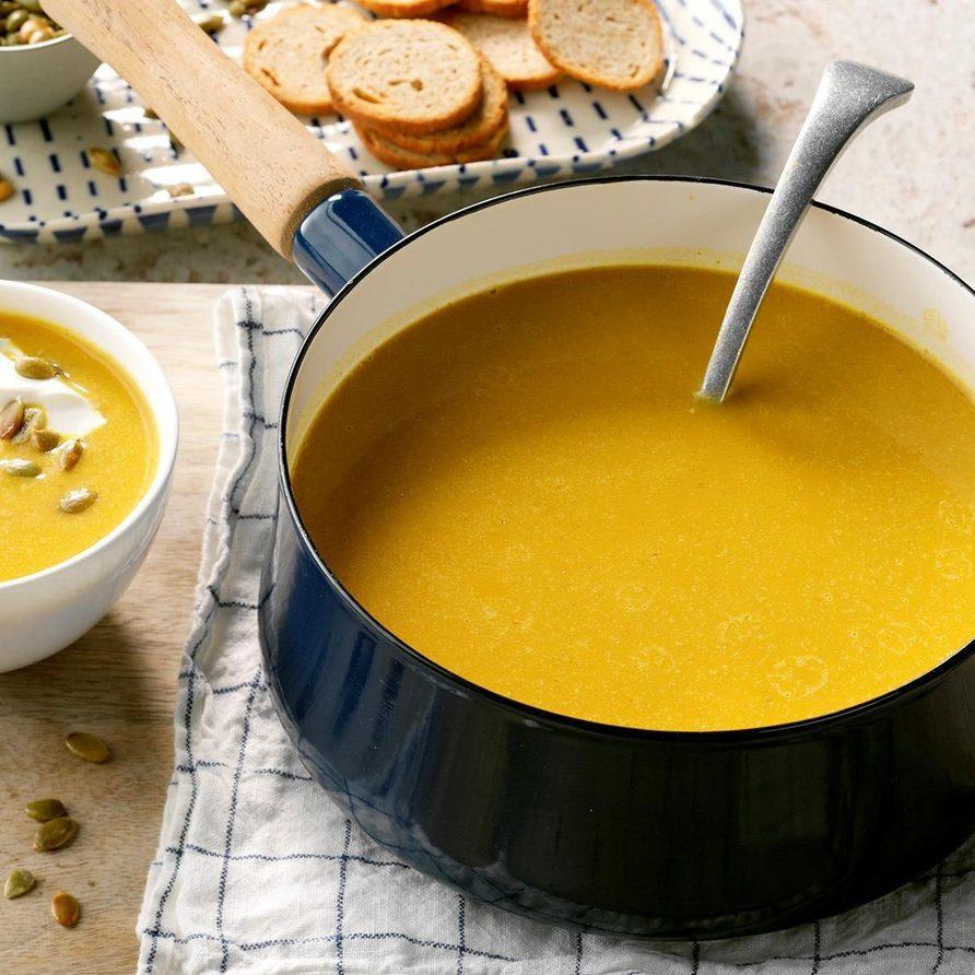 Pumpkin coconut soup recipe