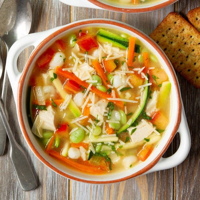 Quick and healthy turkey veggie soup recipe