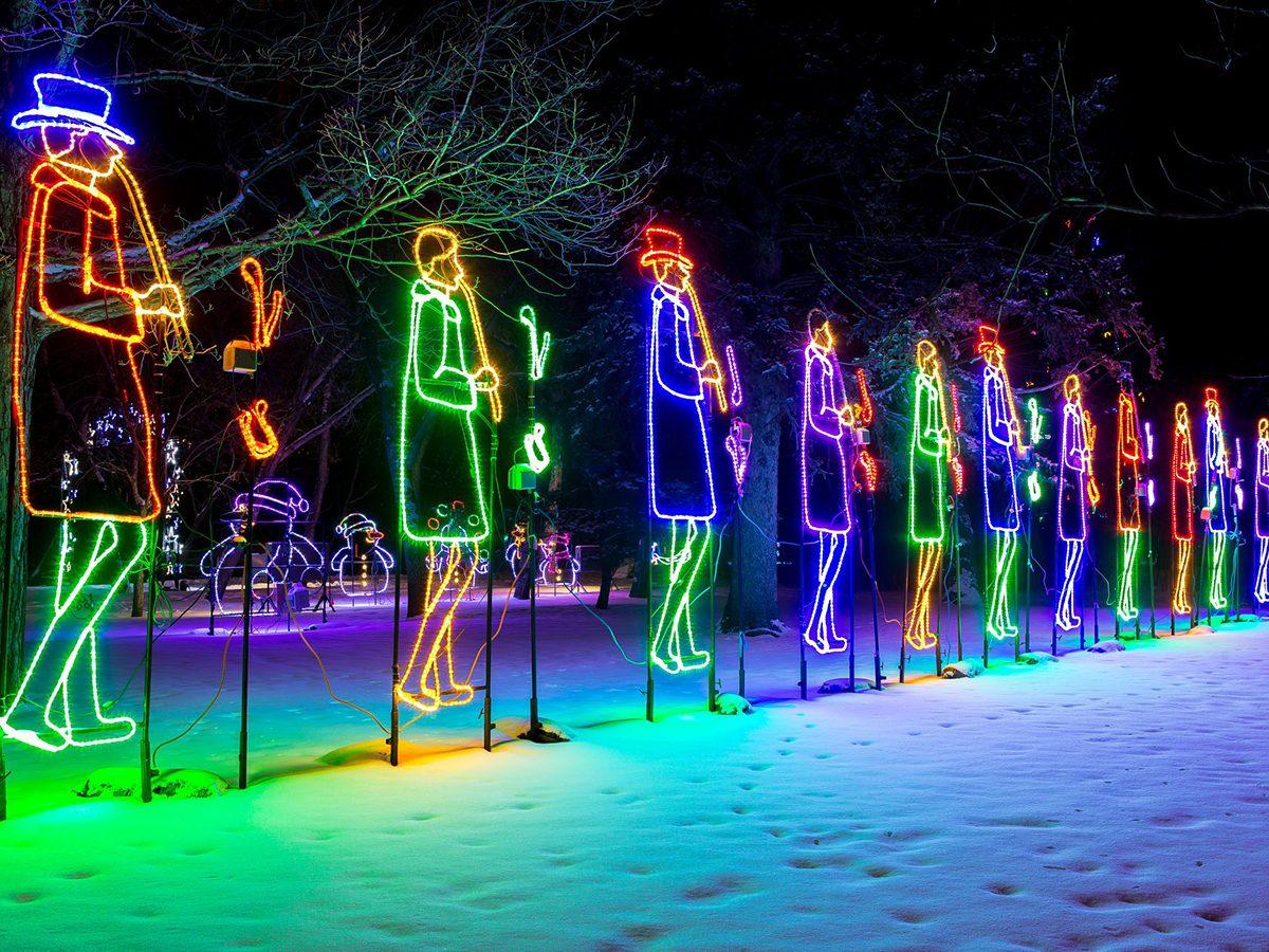 BHP Enchanted Holiday Forest light display in Saskatoon, Saskatchewan