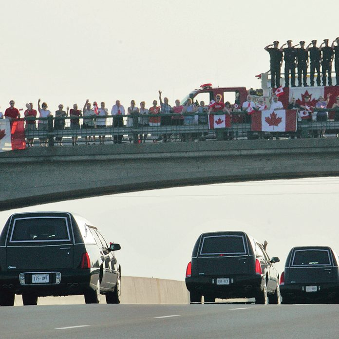 Highway of Heroes - funeral procession