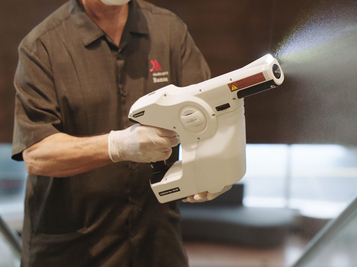 Marriott Commitment to Clean - electrostatic sprayer