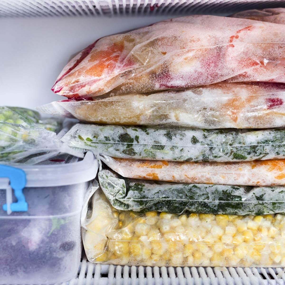 freezer frozen food