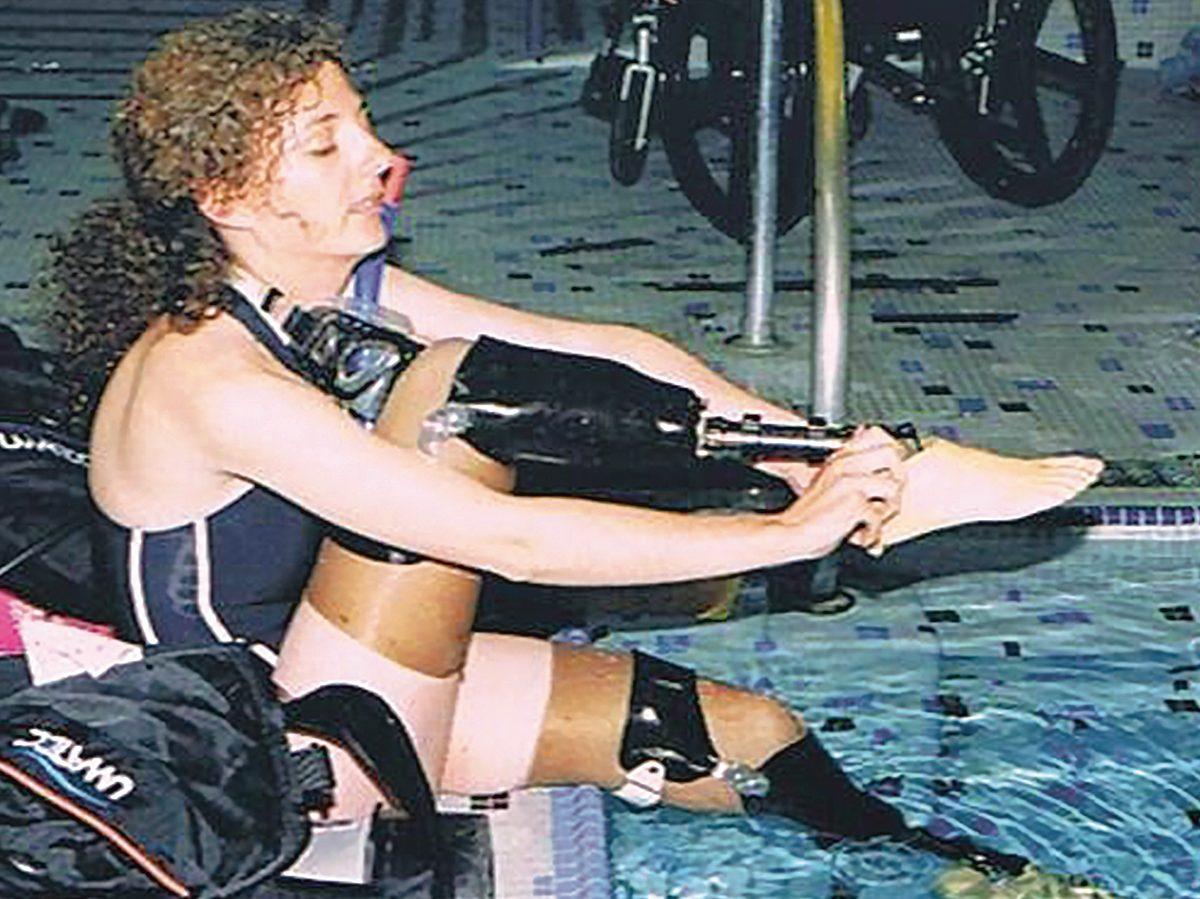 Sima Culjak in the pool
