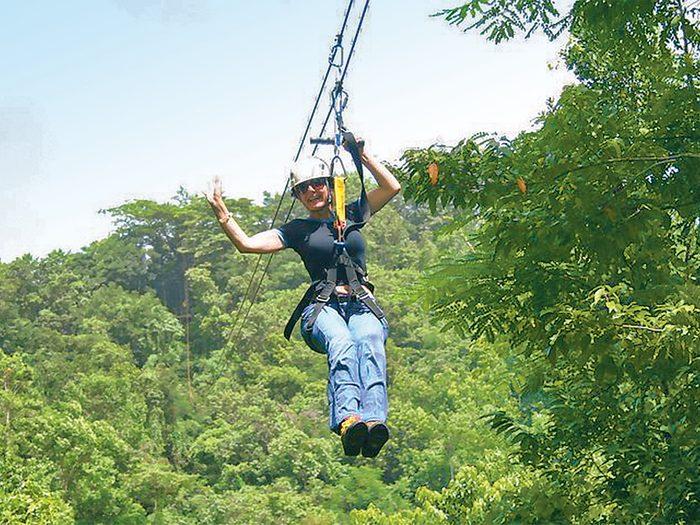 Sima Culjak ziplining