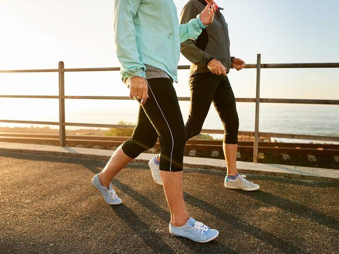 Walking mistakes - Cropped shot of two senior women walking together in morning
