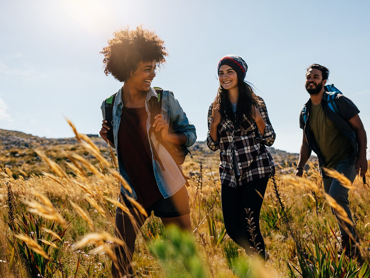 Walking mistakes - Friends hiking in field