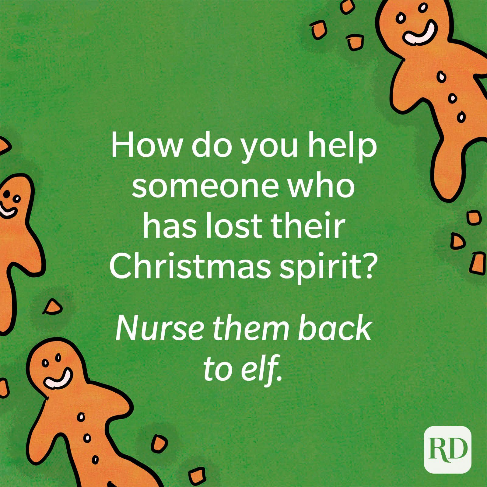 How do you help someone who has lost their Christmas spirit?